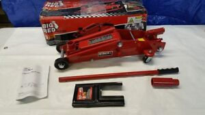 Torin Big Red Hydraulic Trolley Floor Jack Suv Extended Height 3 Ton Capacit