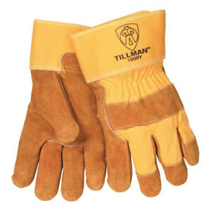 Tillman 1500y Split Cowhide Cotton Lined Canvas Back Work Gloves Lg Pkg 12