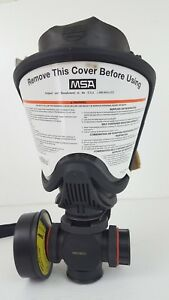 Msa Ultra Elite Respirator Facepiece W Dual Cart Adapter Cartridge Cap Small