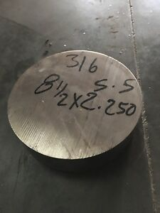 8 5 316 Stainless Steel Round Rod 2 25 Length