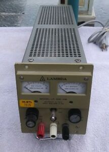 Lambda Model Lp 520 fm 0 10v 0 5a Power Supply tested 5vdc