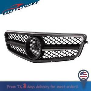 Front Black Upper Matte Grille W o Badge For Mercedes W204 2008 2013 C class Amg
