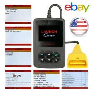 Launch Creader Vi 6 Obd2 Auto Code Reader Crvi Engine Diagnostic Scanner Tool Us