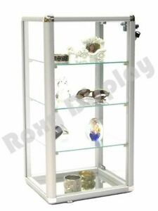 Glass Counter Top Display Case Aluminum Framed Showcase With Front Lock