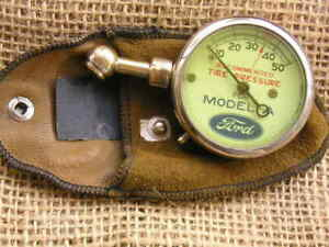 1928 31 Car Show Quality Reworked Model A Ford Tire Gauge Us Pouch Accessory