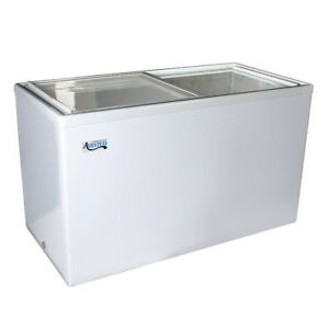 53 14 1 Cu Ft White Commercial Flat Lid Ice Cream Display Freezer