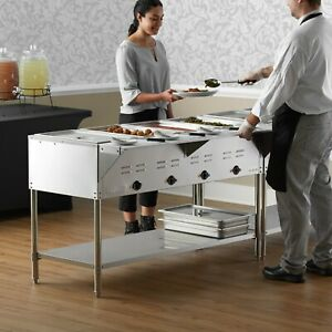 57 4 pan Restaurant Electric Steam Table Buffet Food Warmer 208 240 Volt