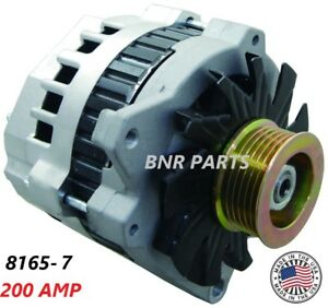 200 Amp 8165 7 Alternator Chevy Gmc New High Output Hd Made In Usa Performance