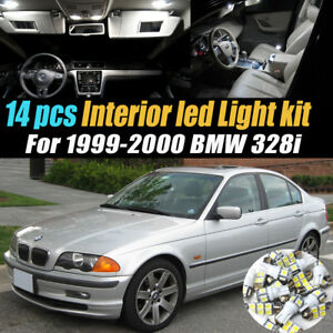 14pc Super White Car Interior Led Light Bulb Kit Package For 1999 2000 Bmw 328i