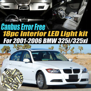 18pc 2001 2006 Bmw 325i 325xi Canbus Error Free Interior Led White Light Kit