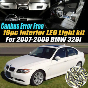 18pc 2007 2008 Bmw 328i Canbus Error Free Interior Led White Light Bulb Kit