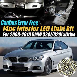 14pc 2009 2013 Bmw 328i Xdrive Canbus Error Free Interior Led White Light Kit