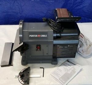 Porter Cable Benchtop Disc Belt Sander with Disc Work Table