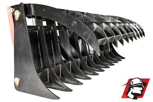 66 Heavy Duty Root rock Rake Track Loader Attachment Best Value High Quality