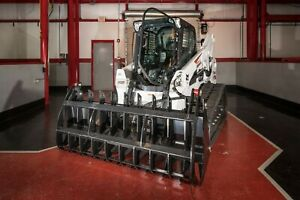 84 Heavy Duty Root Rake Skid Steer Grapple Bucket Attachment For Case Machines