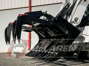 Dual Cylinder Grapple Bucket For Bobcat 84 Wide