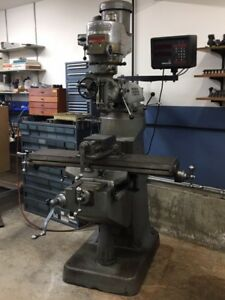 Bridgeport Milling Machine Series I 2hp 2j Head And Dro