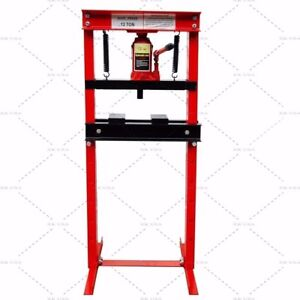 Hydraulic Shop Press Floor Press 12 Ton H Frame Free Shipping