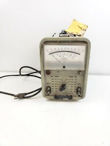 Vintage Orion Electronic Corp V 100m Tester Tube Radio Vacuum Tube Voltmeter