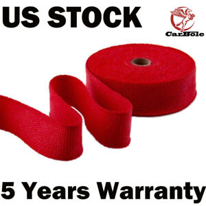 Exhaust Manifolds Titanium Heat Wrap Tape Thermal Wrap Red 2 X 50ft 10 Ties