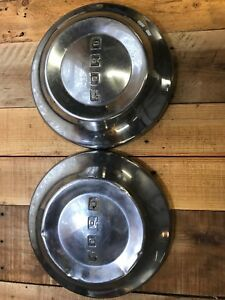 50 S Ford Dog Dish 10 1 2 Poverty Hubcaps 1952 1953 1954 Wheel Covers Ratrod