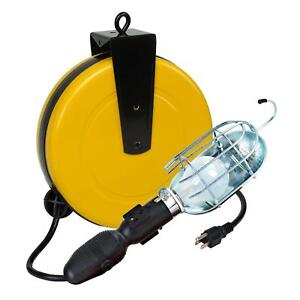 Retractable Cord Reel Shop Work Light 50ft Cord And Circuit Breaker
