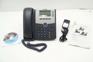 Cisco Spa504g 4 Line Voip Business Phone W Power Adapter Cd Manual