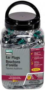 Ear Plugs Cordless Soft Low Pressure Foam Pair Work Hearing Protection Am Fm