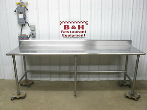 96 Stainless Steel Heavy Duty Roll Under Kitchen Work Top Prep Table 8 X 30