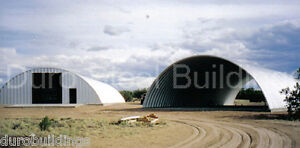 Durospan Steel 50x46x17 Metal Quonset Arch Building Kit Open Ends Factory Direct