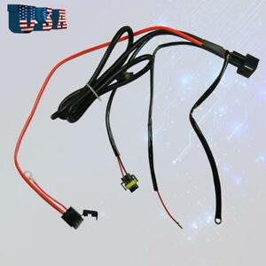 1x H11 880 Relay Wiring Harness Hid Conversion Kit Add On Fog Lights Drl Led