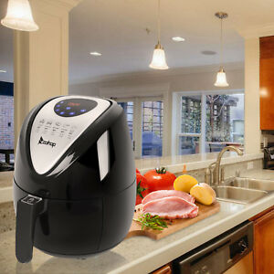 1500w Electric Air Fryer Low fat Touch Screen Control W 6 Cooking Presets Timer