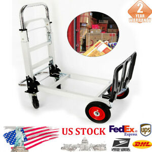 2 in 1 Hand Truck Dolly Aluminum Alloy Foldable Wheel Cart Double purpose