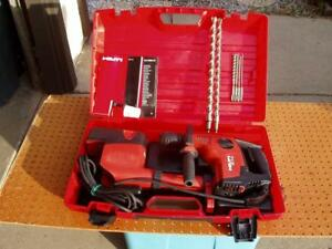 Hilti Te 7 c Rotary Drill W drs m Dust Removal System Bits Case Nice Issue