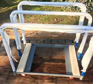 Little Giant Steel 3 Panel Truck With Swivel Casters 1 000 Lb Utility Push Cart