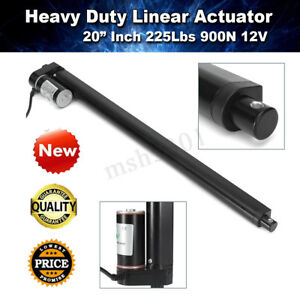 20 Stroke Heavy Duty Electric Linear Actuator Motor 225 Lbs 10mm s Lift Dc 12v