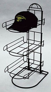 3 Tier Wire Baseball Cap Counter Display Rack Holds 8 10 Hats Per Row