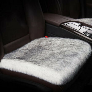Real Fur Long Wool Car Seat Cushion Sheepskin Cover Winter Soft Warm Chair Pad