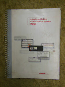 Snap On Asian Import Vehicle Communication Software Manual 2004