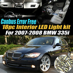 18pc 2007 2008 Bmw 335i Canbus Error Free Car Interior Led White Light Bulb Kit