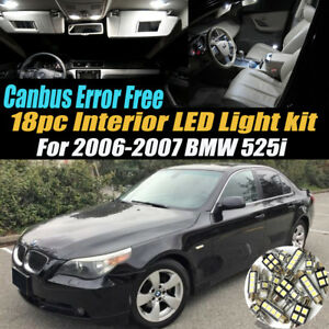 18pc 2006 2007 Bmw 525i Canbus Error Free Car Interior Led White Light Bulb Kit