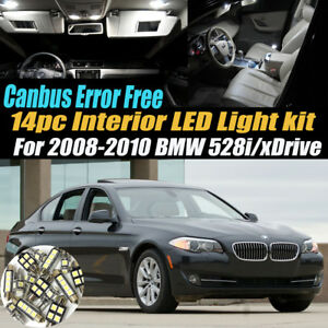 14pc 2008 2010 Bmw 528i Xdrive Canbus Error Free Interior Led White Light Kit