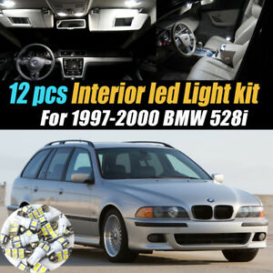 12pc Super White Car Interior Led Light Bulb Kit Pack For 1997 2000 Bmw 528i