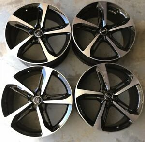 Factory Oem Bbs Audi Rs7 21 Wheels Rims Set Black And Machined