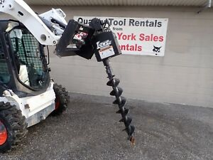 Lowe 750 Post Hole Digger For Skid Steer Loaders Ssl Quick Attach Fits Many