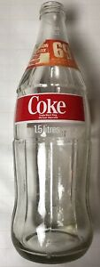 Vintage 1.5 Liter Coca-Cola Glass Money-Back Bottle 69 Cents (No Lid)