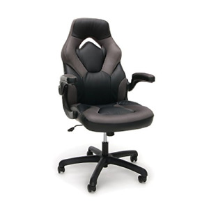 Essentials Racing Style Leather Gaming Chair Ergonomic Swivel Computer Office