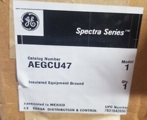 New G E Spectra Panel Board Neutral Ground Load Bar Lugs 400 Amp Cat Aegcu47