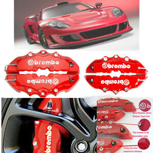 4pcs Abs Universal Truck 3d Red Car Disc Brake Caliper Cover Front Rear Kit B9k9