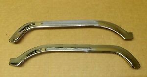 New 1961 1962 1963 Ford Thunderbird Chrome Hood Eyebrow Mouldings Pair